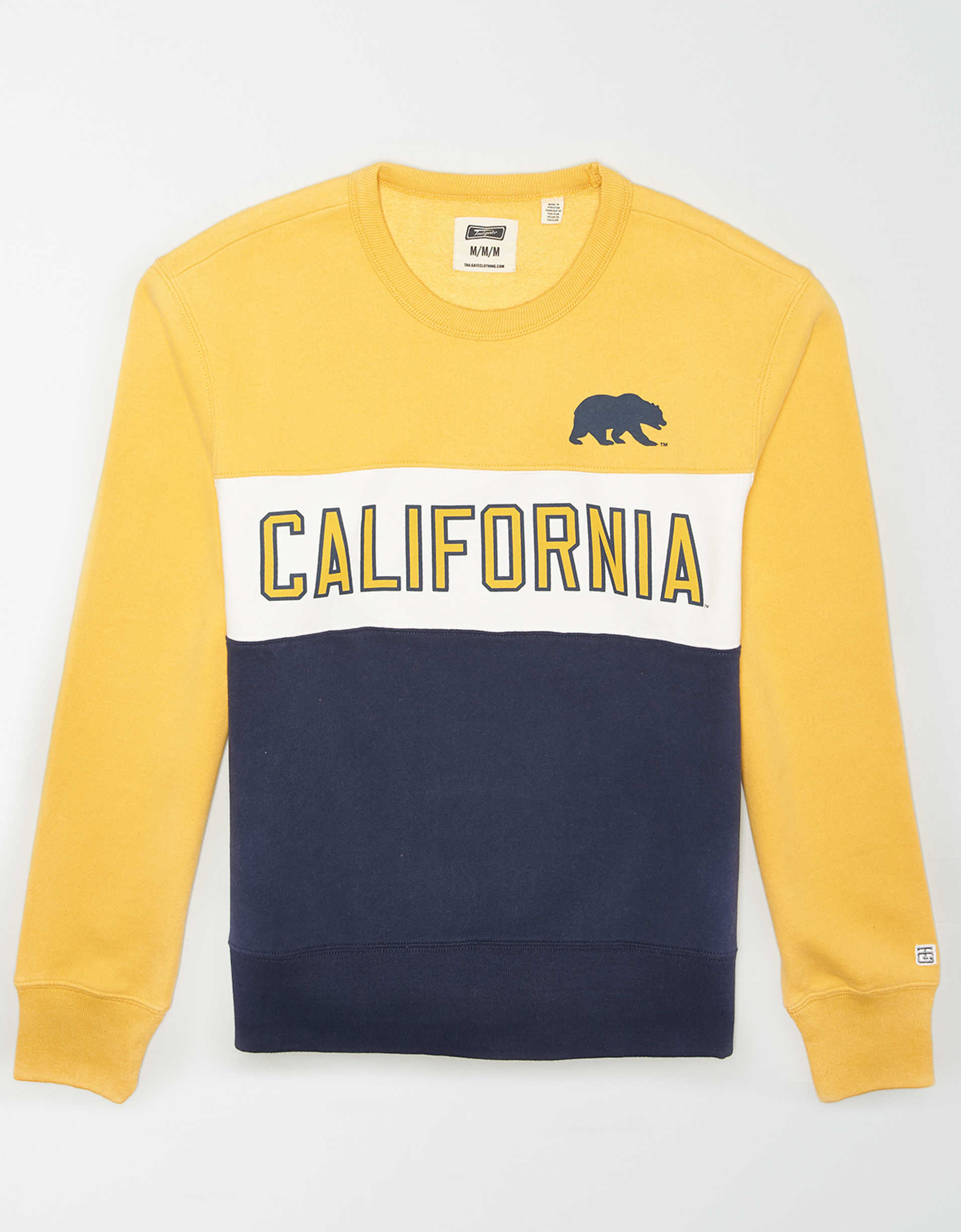 Tailgate Men's Cal Berkeley Colorblock Fleece Sweatshirt