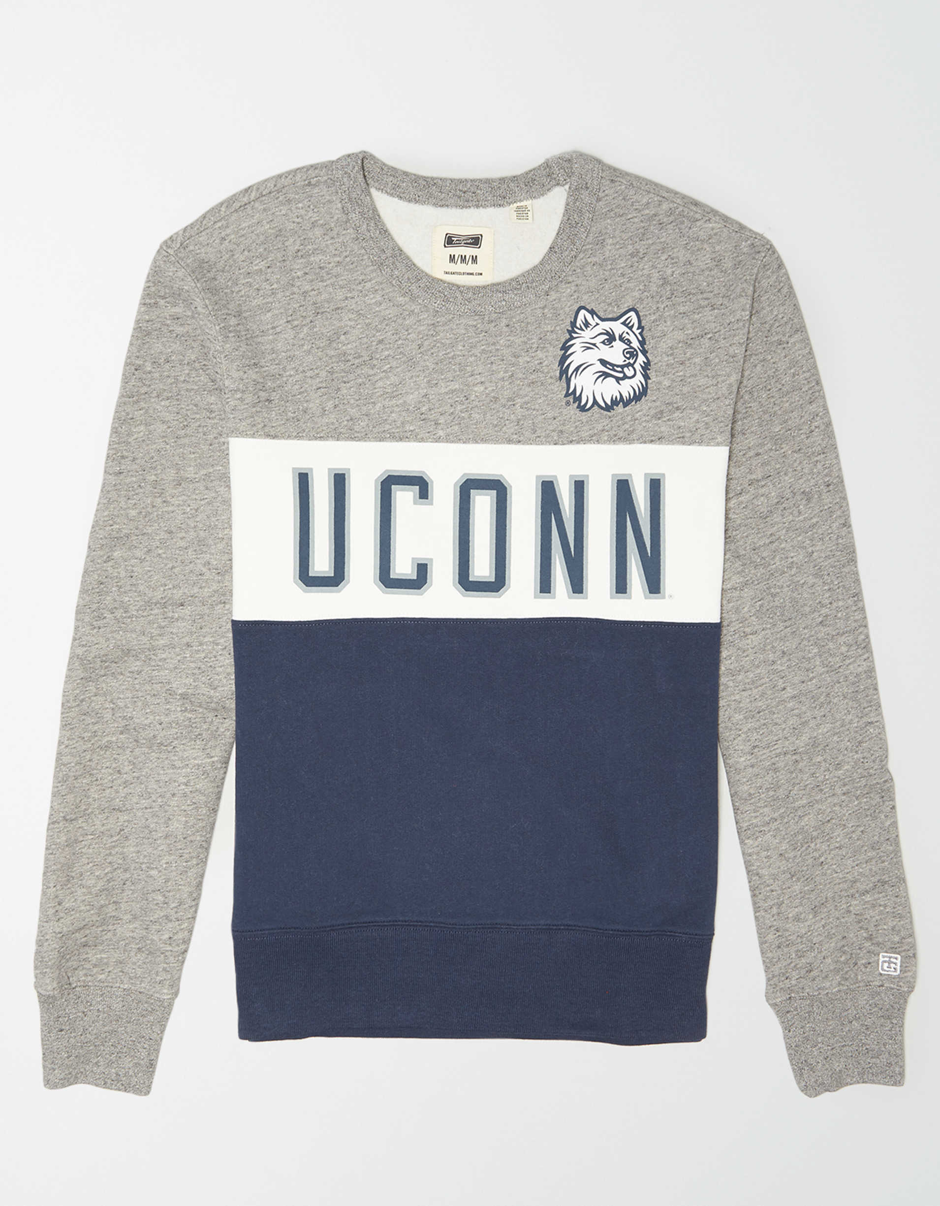 Tailgate Men's UConn Huskies Colorblock Fleece Sweatshirt