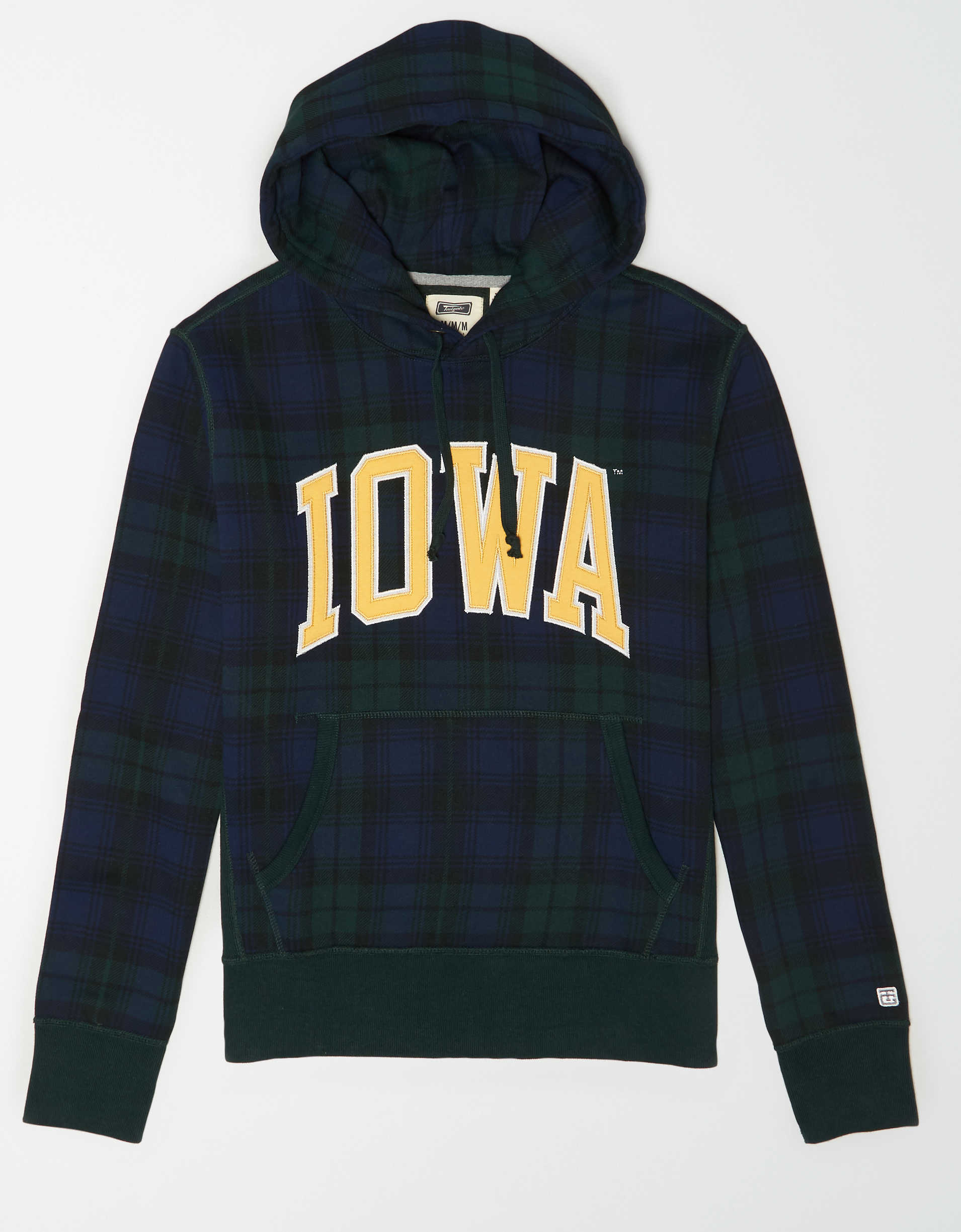 Tailgate Men's Iowa Hawkeyes Plaid Fleece Hoodie