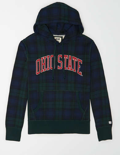 Tailgate Men's Ohio State Buckeyes Plaid Fleece Hoodie