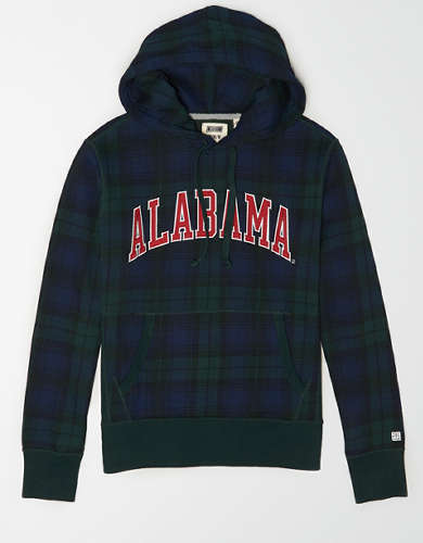 Tailgate Men's Alabama Plaid Fleece Hoodie