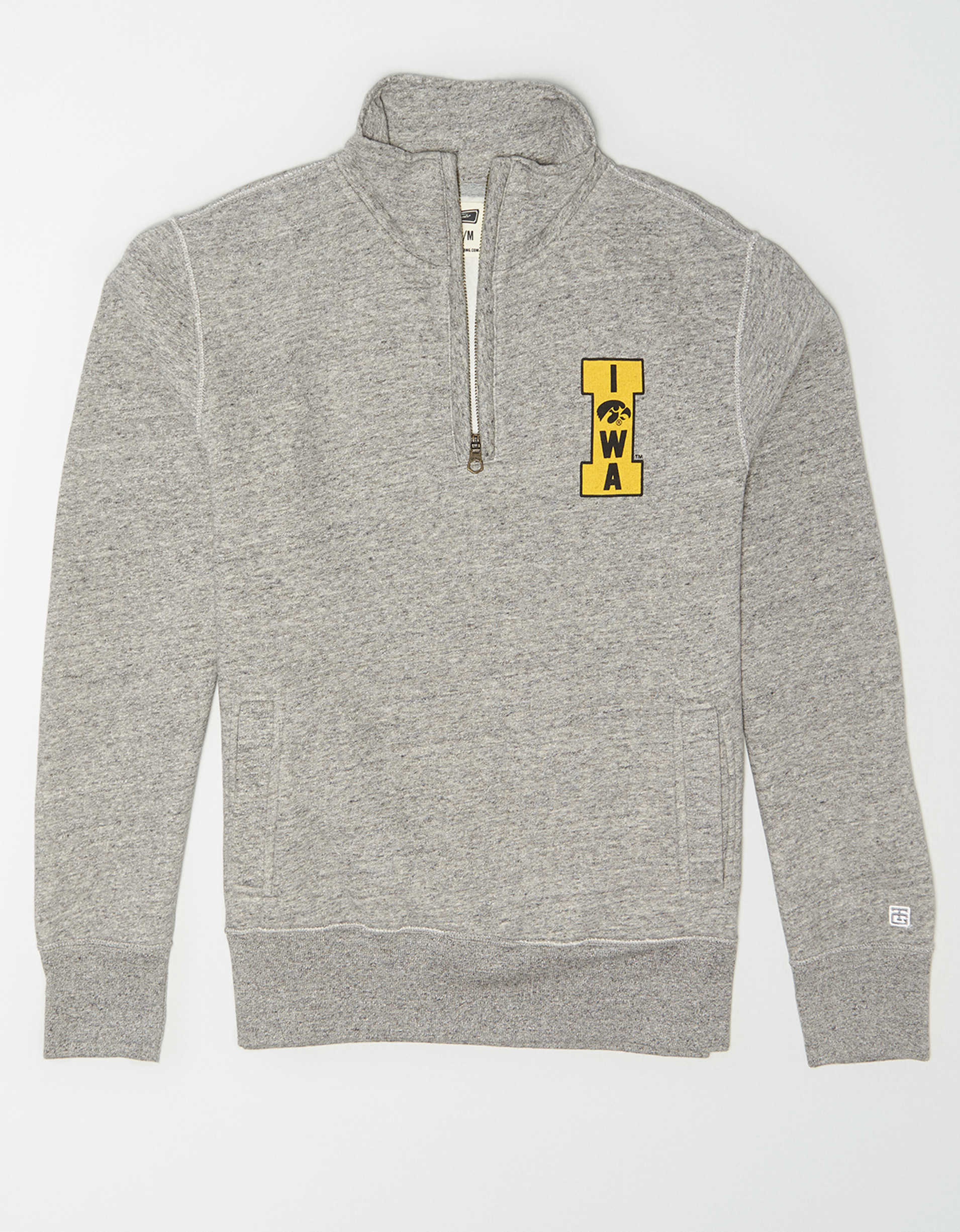 Tailgate Men's Iowa Hawkeyes Quarter Zip Sweatshirt