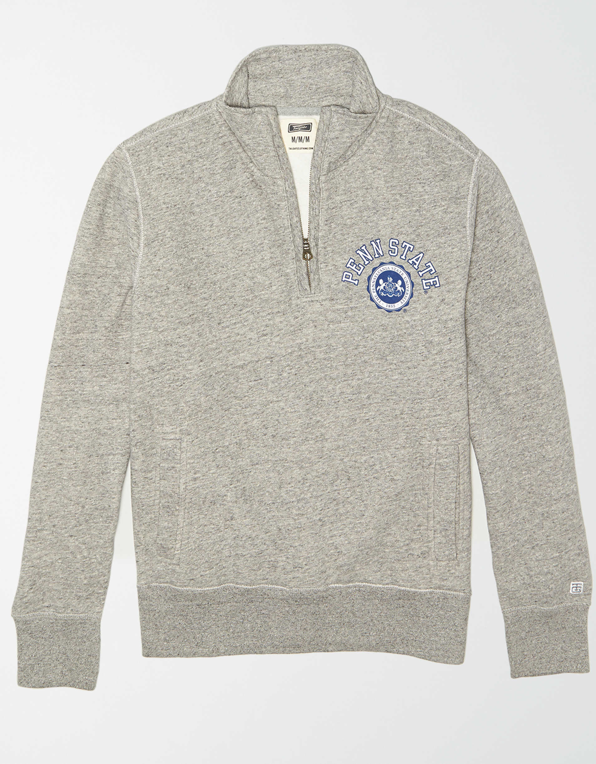 Tailgate Men's Penn State Quarter Zip Sweatshirt