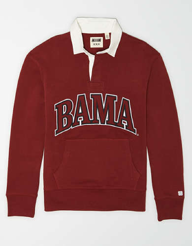 Tailgate Men's Alabama Crimson Tide Terry Fleece Rugby
