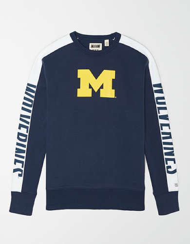 Tailgate Men's Michigan Wolverines Crew Sweatshirt