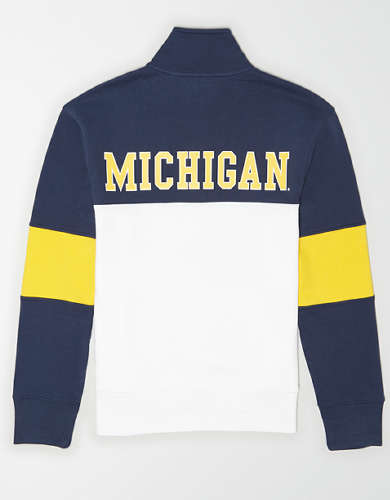 Tailgate Men's Michigan Wolverines Quarter-Zip Sweatshirt