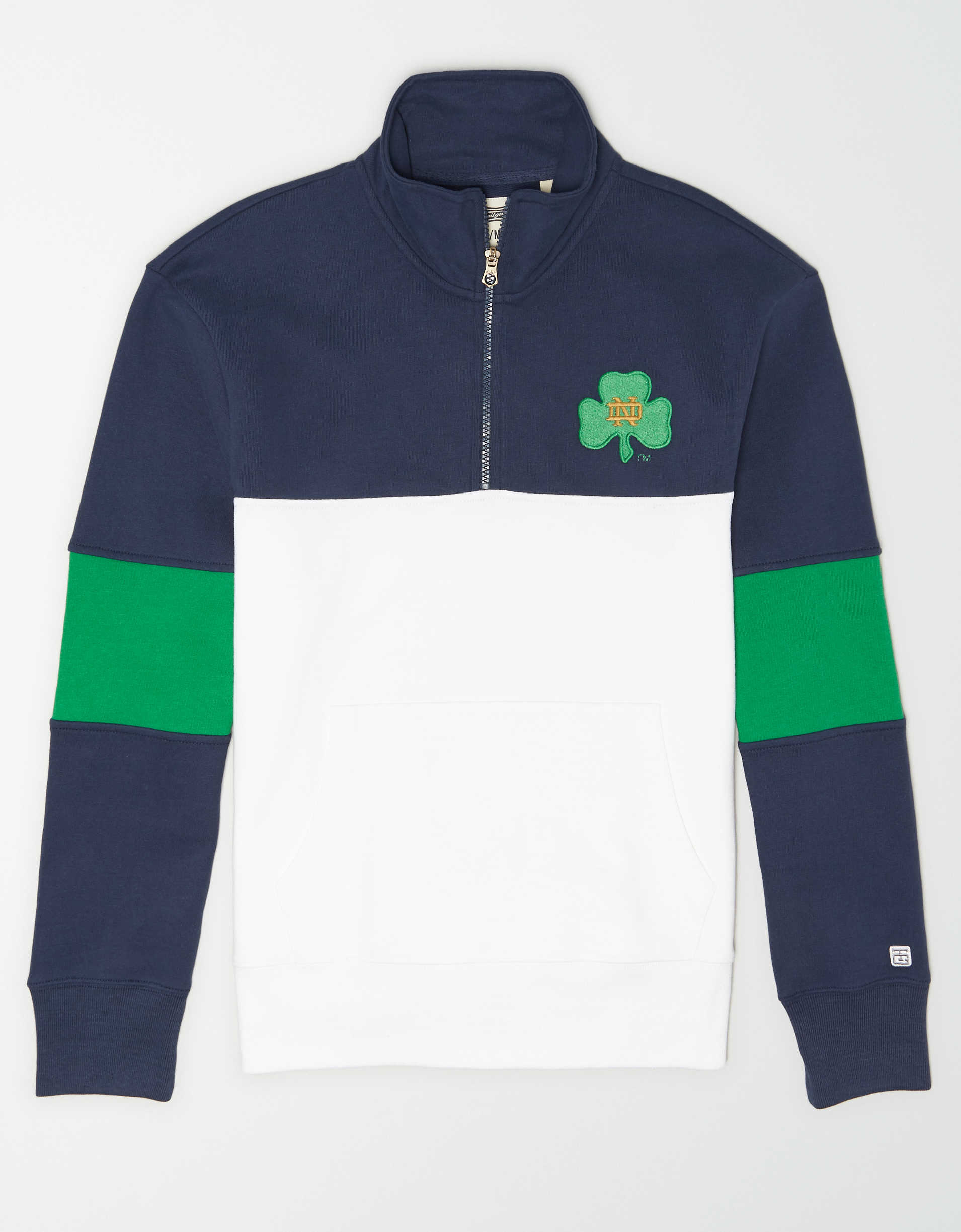 Tailgate Men's Notre Dame Irish Quarter-Zip Sweatshirt
