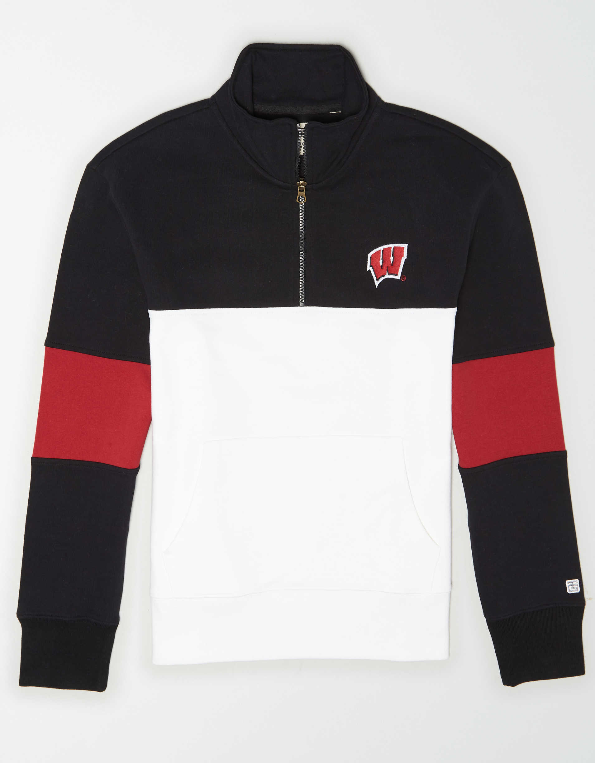 Tailgate Men's Wisconsin Badgers Quarter-Zip Sweatshirt