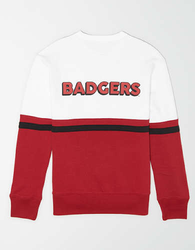 Tailgate Men's Wisconsin Badgers Colorblock Sweatshirt