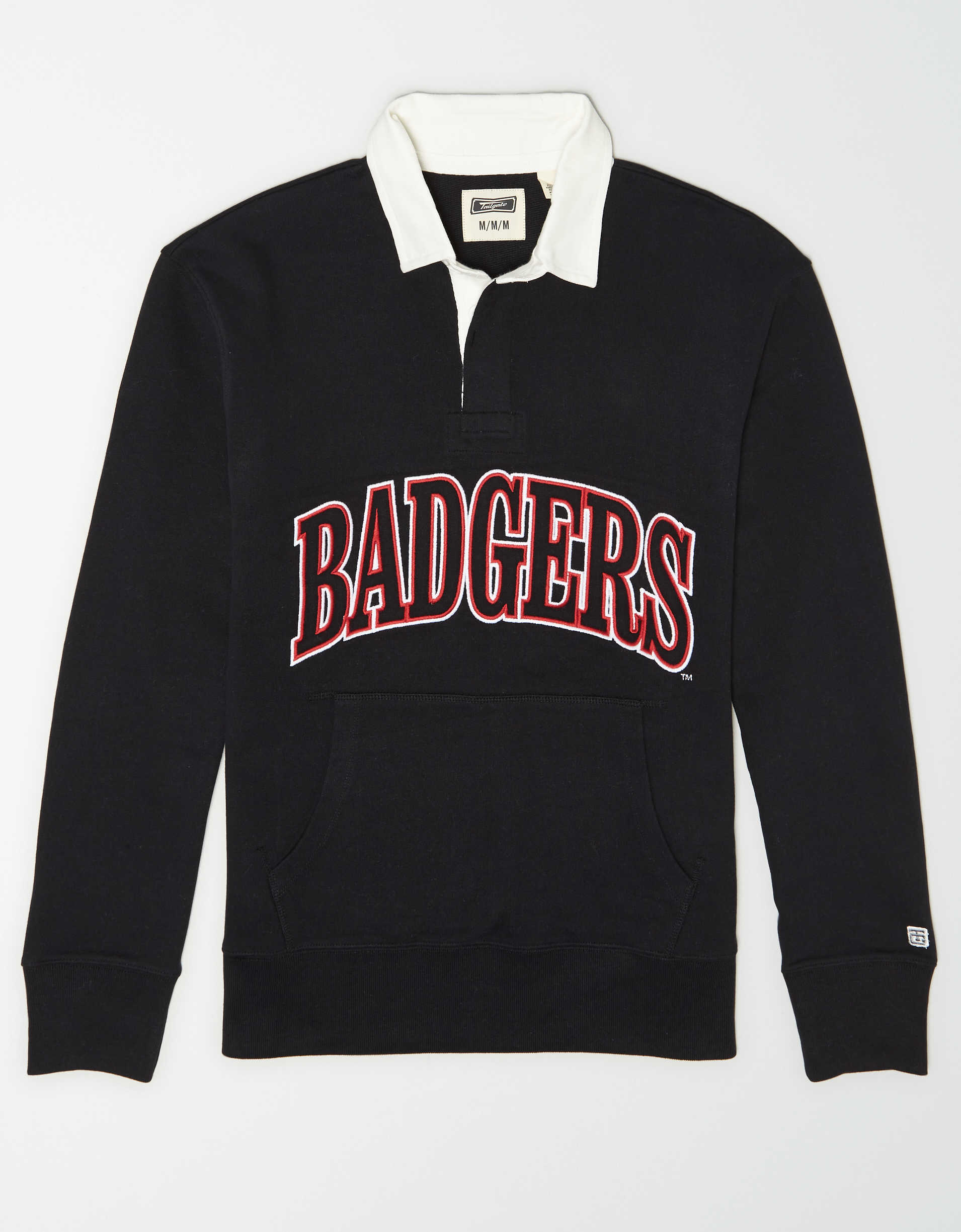 Tailgate Men's Wisconsin Badgers Terry Fleece Rugby