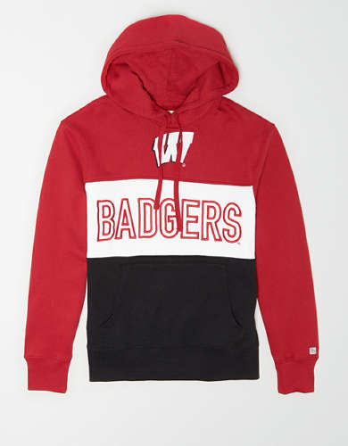 Tailgate Men's Wisconsin Badgers Colorblock Hoodie