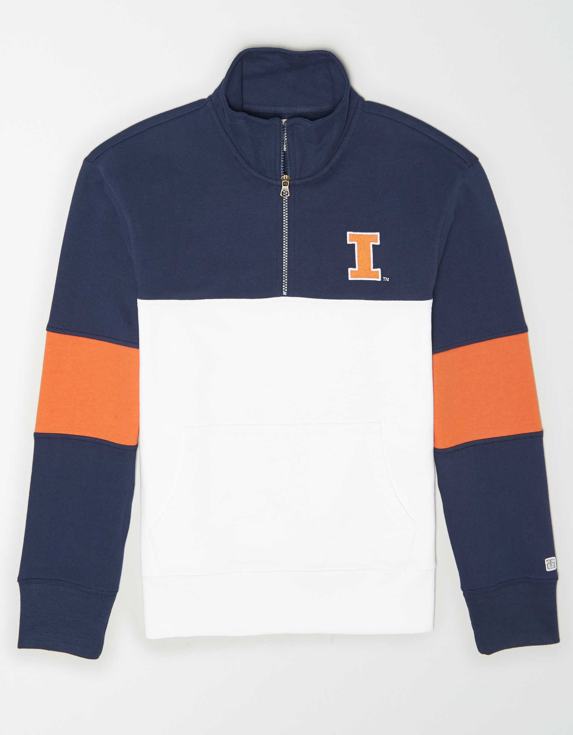 Tailgate Men's Illinois Fighting Illini Quarter-Zip Sweatshirt