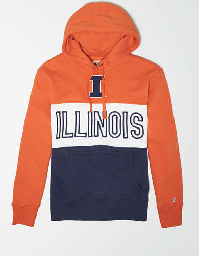 Tailgate Men's Illinois Fighting Illini Colorblock Hoodie