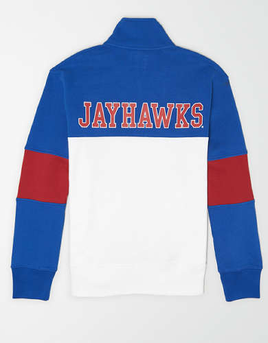 Tailgate Men's Kansas Jayhawks Quarter-Zip Sweatshirt