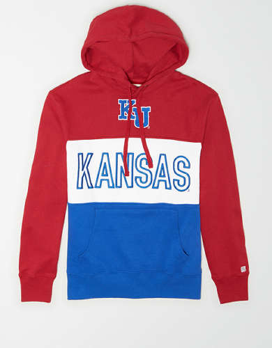 Tailgate Men's Kansas Jayhawks Colorblock Hoodie