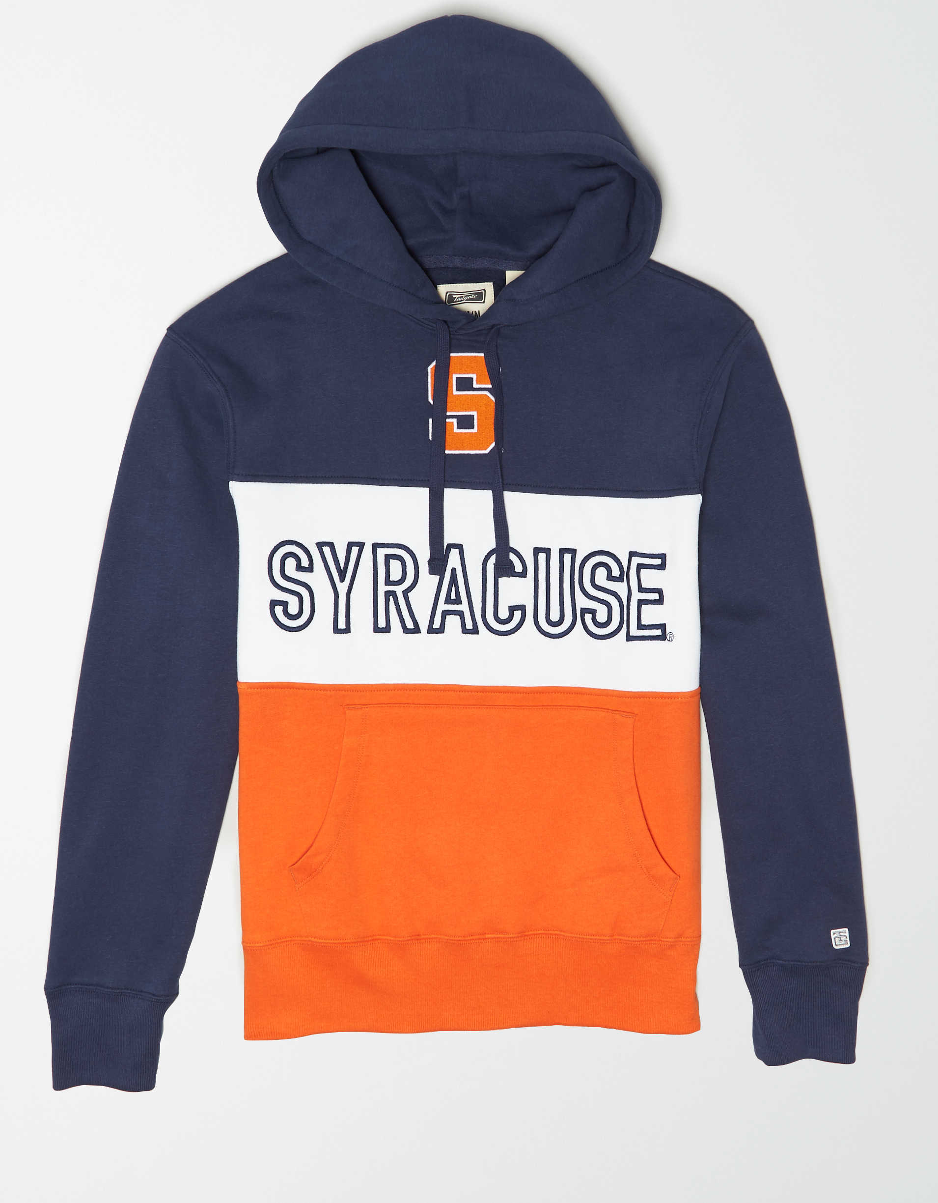 Tailgate Men's Syracuse Orange Colorblock Hoodie
