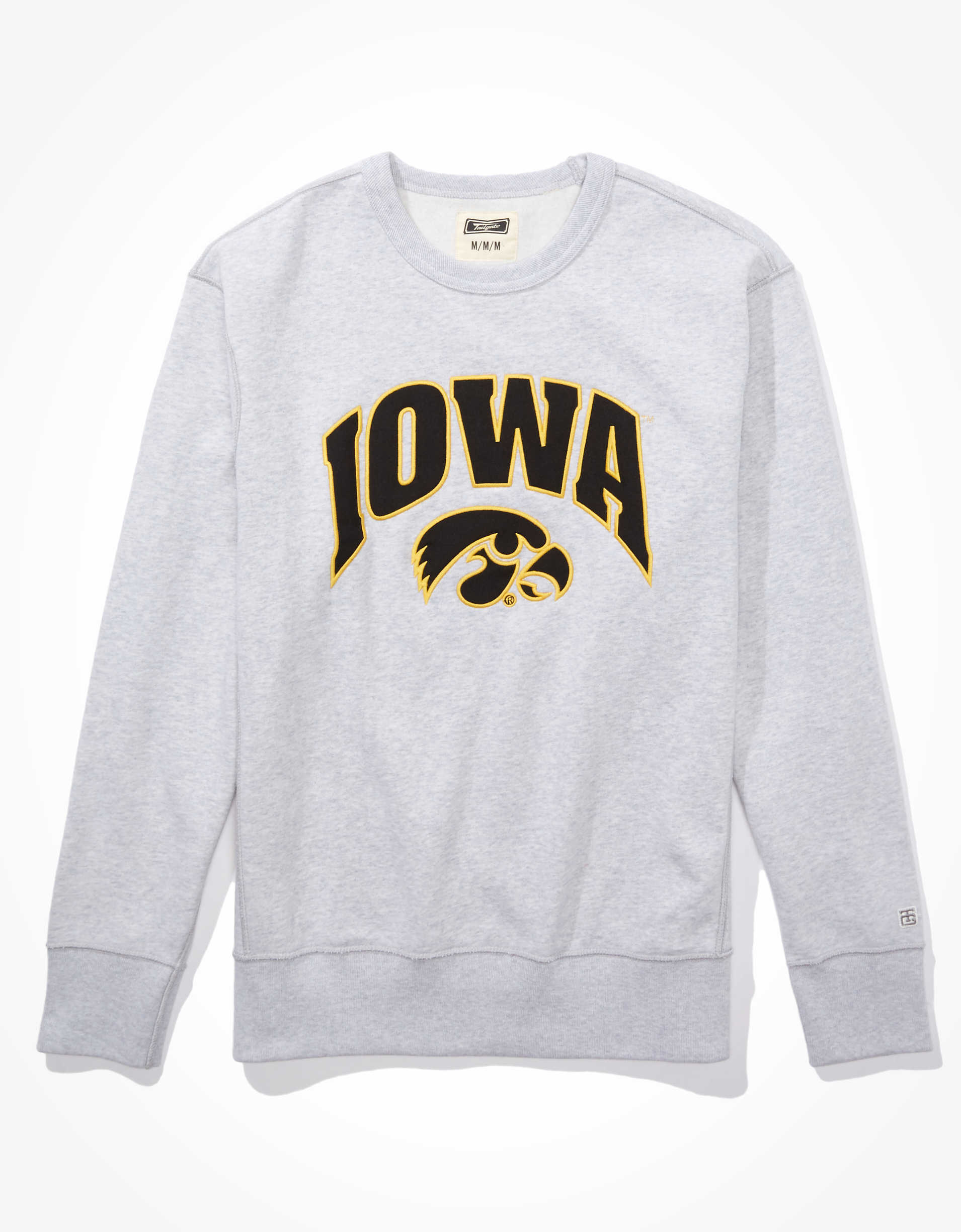 Tailgate Men's Iowa Hawkeyes Crew Neck Sweatshirt