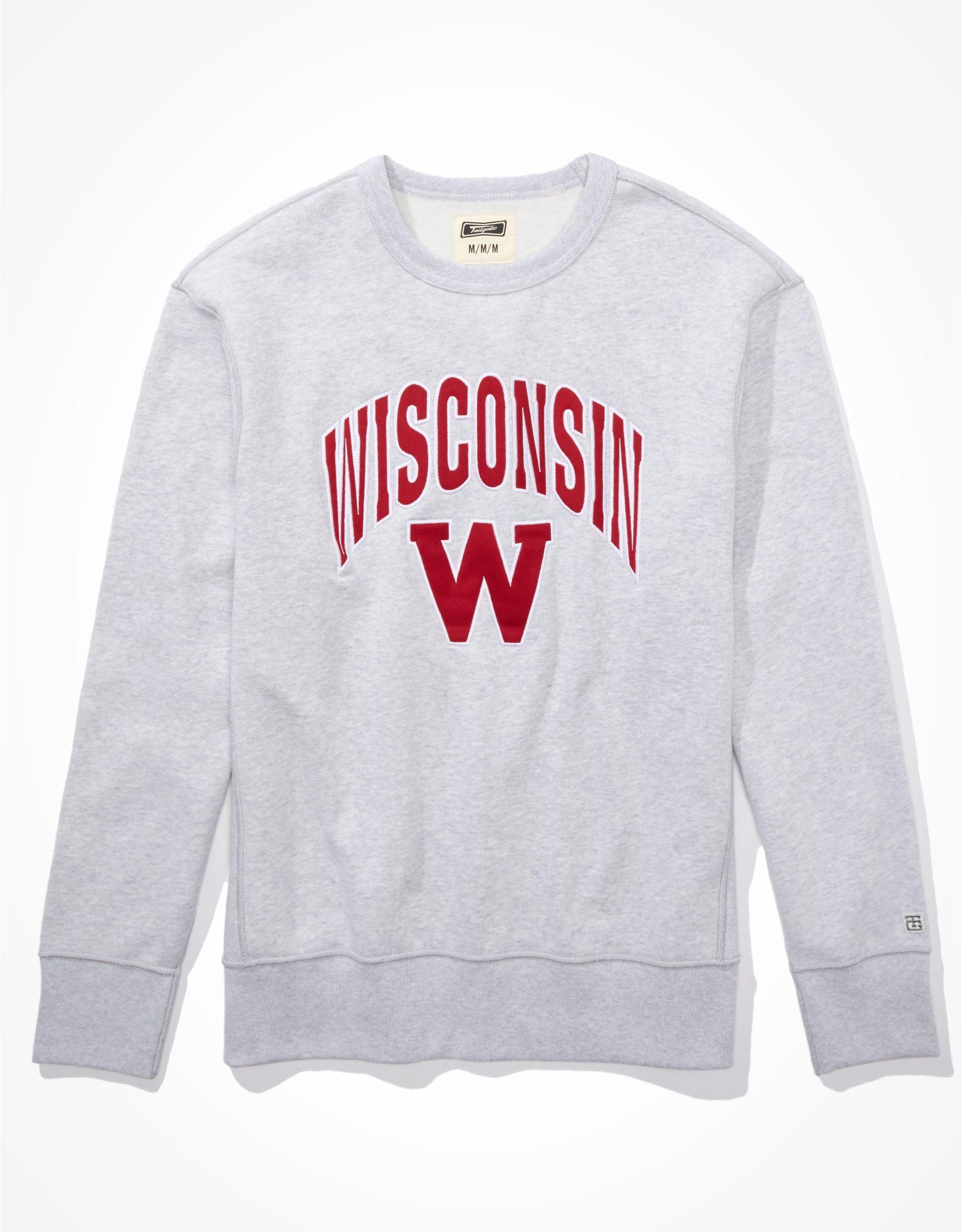 Tailgate Men's Wisconsin Badgers Crew Neck Sweatshirt