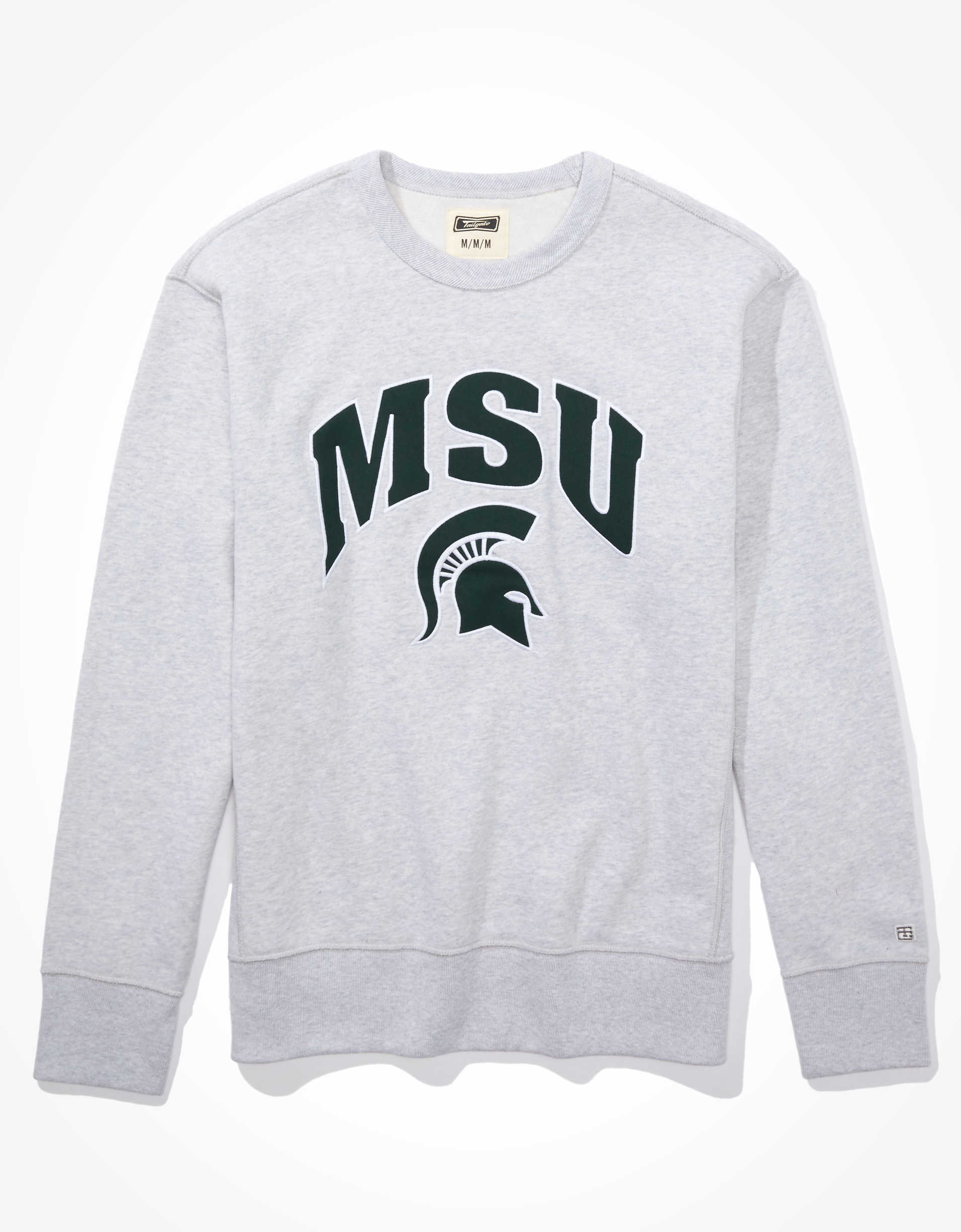 Tailgate Men's MSU Spartans Crew Neck Sweatshirt