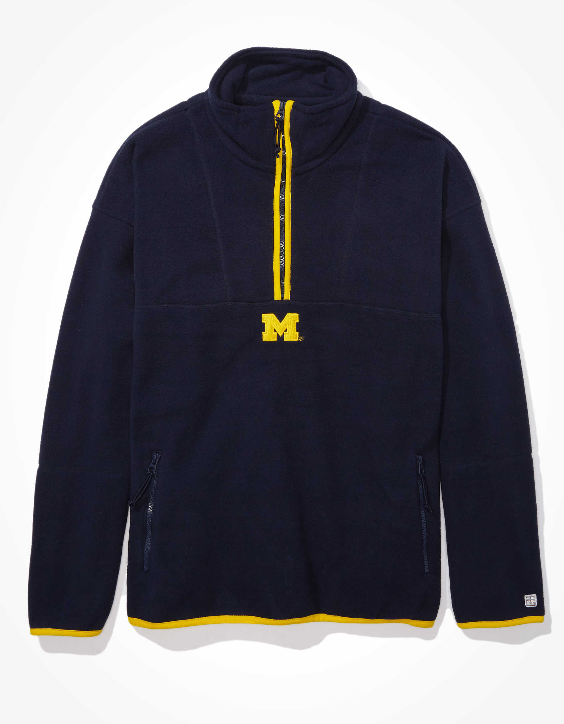 Tailgate Men's Michigan Wolverines Microfleece Quarter-Zip