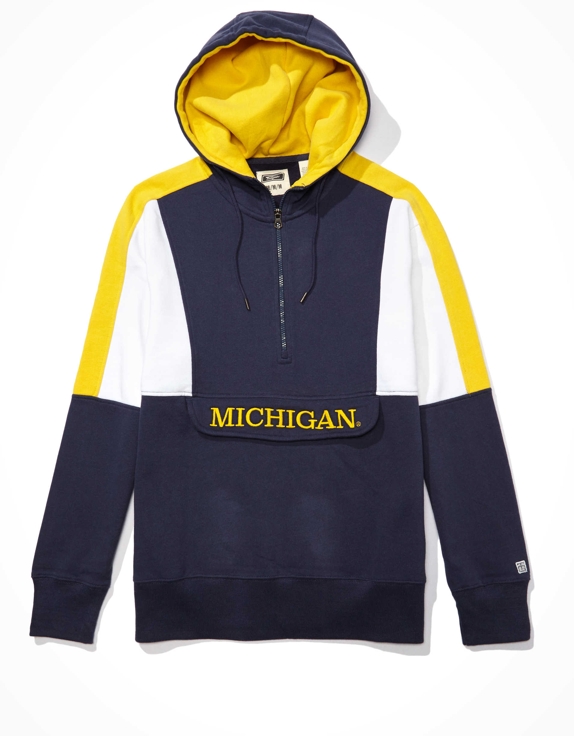 Tailgate Men's Michigan Wolverines Anorak Hoodie