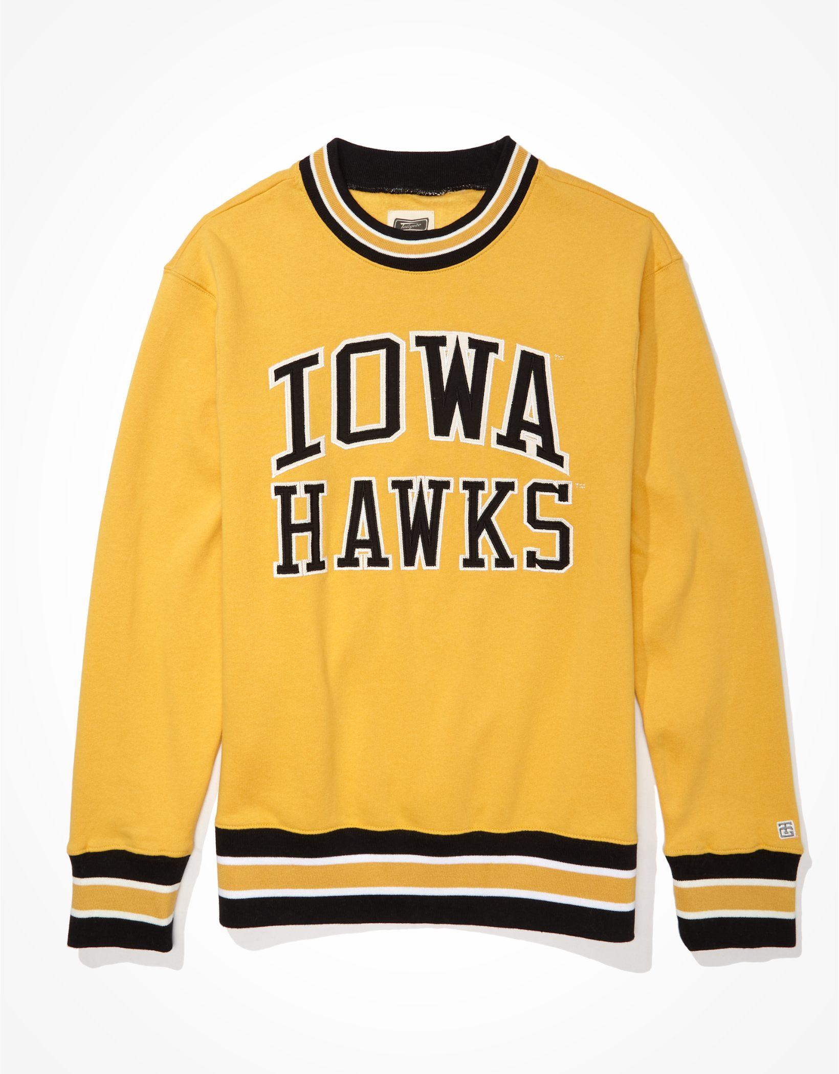 Tailgate Men's Iowa Hawkeyes Tipped Fleece Sweatshirt