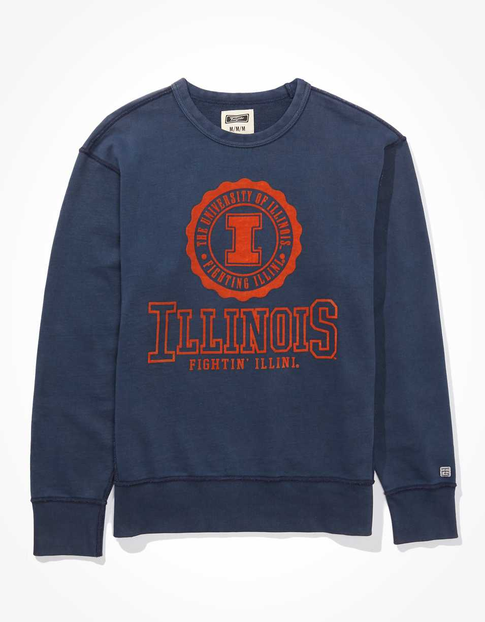 Tailgate Men's Illinois Fighting Illini Terry Fleece Sweatshirt