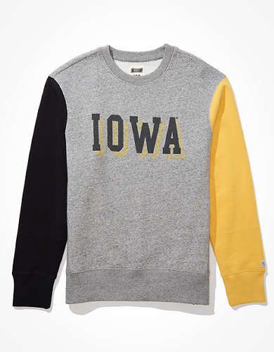 Tailgate Men's Iowa Hawkeyes Colorblock Sweatshirt