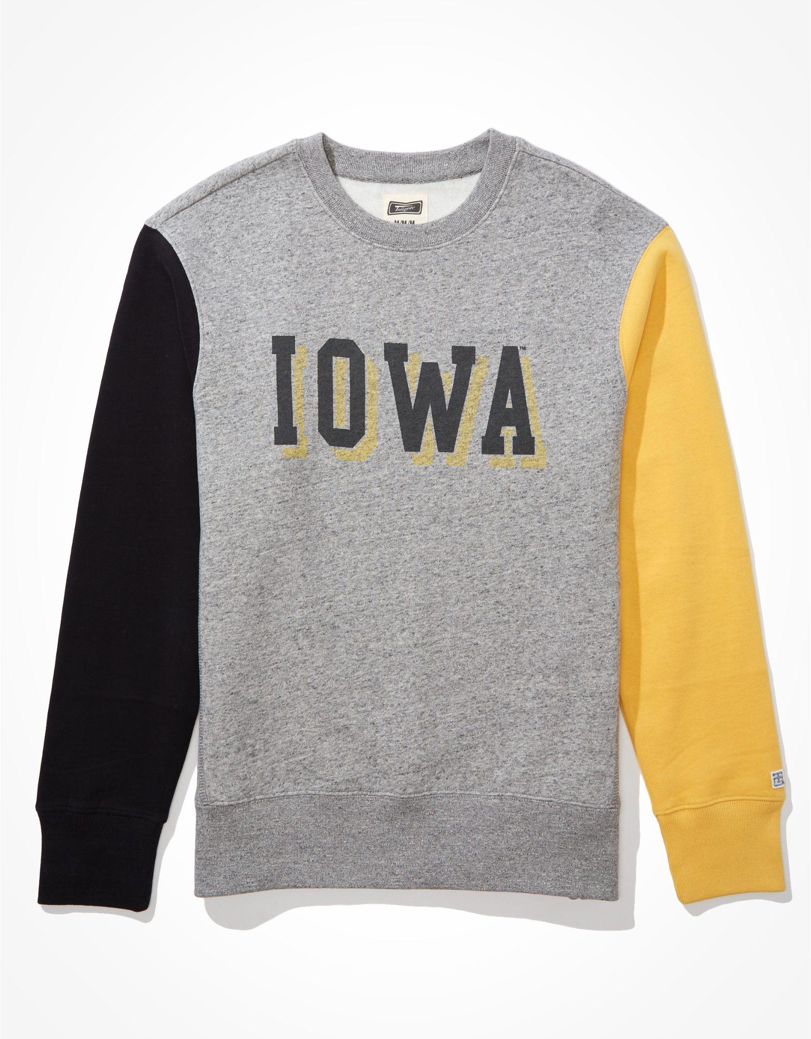 Tailgate Men's Iowa Hawkeyes Colorblock Sweatshirt