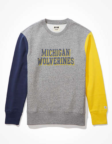 Tailgate Men's Michigan Wolverines Colorblock Sweatshirt