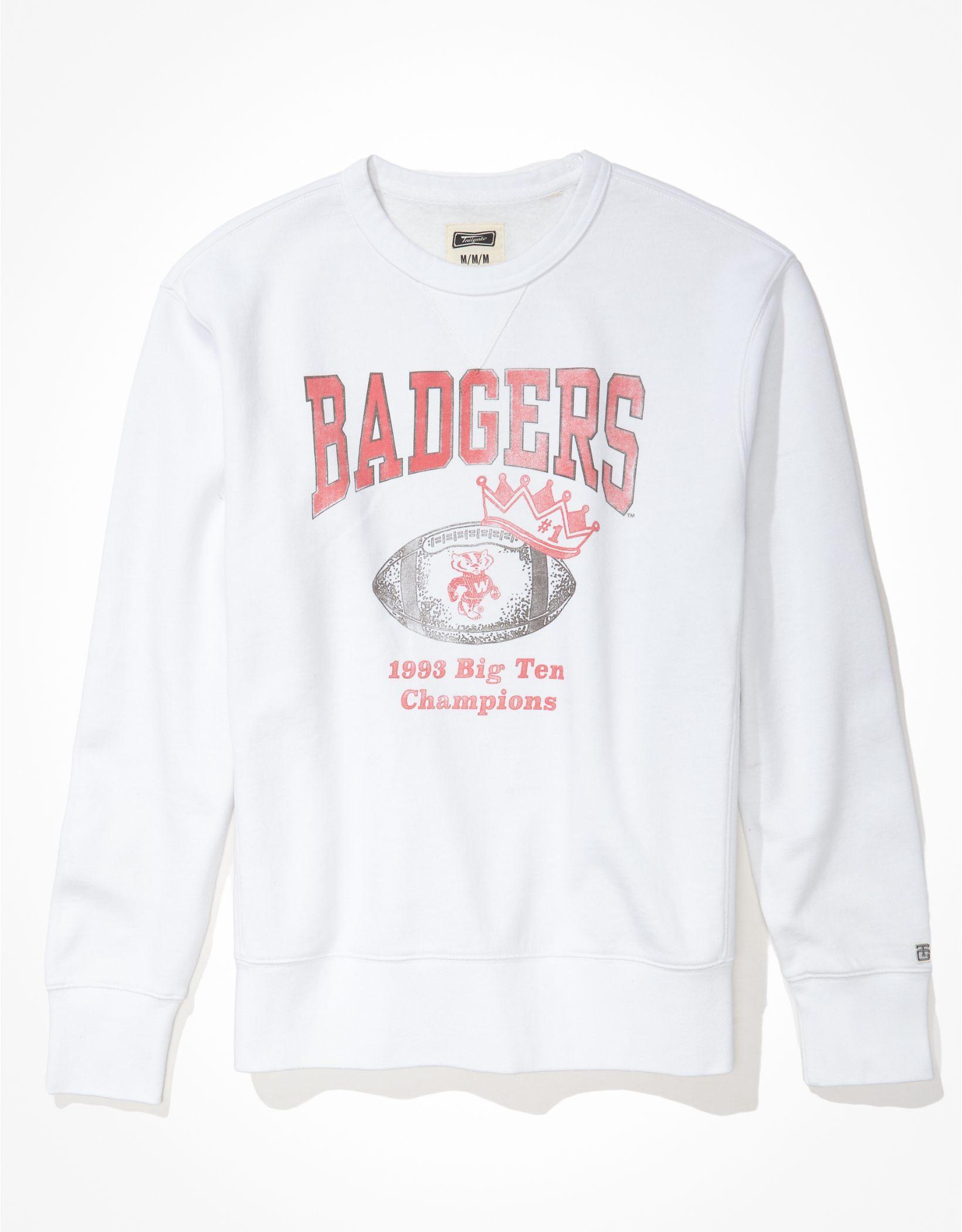 Tailgate Men's Wisconsin Badgers Championship Graphic Fleece Sweatshirt