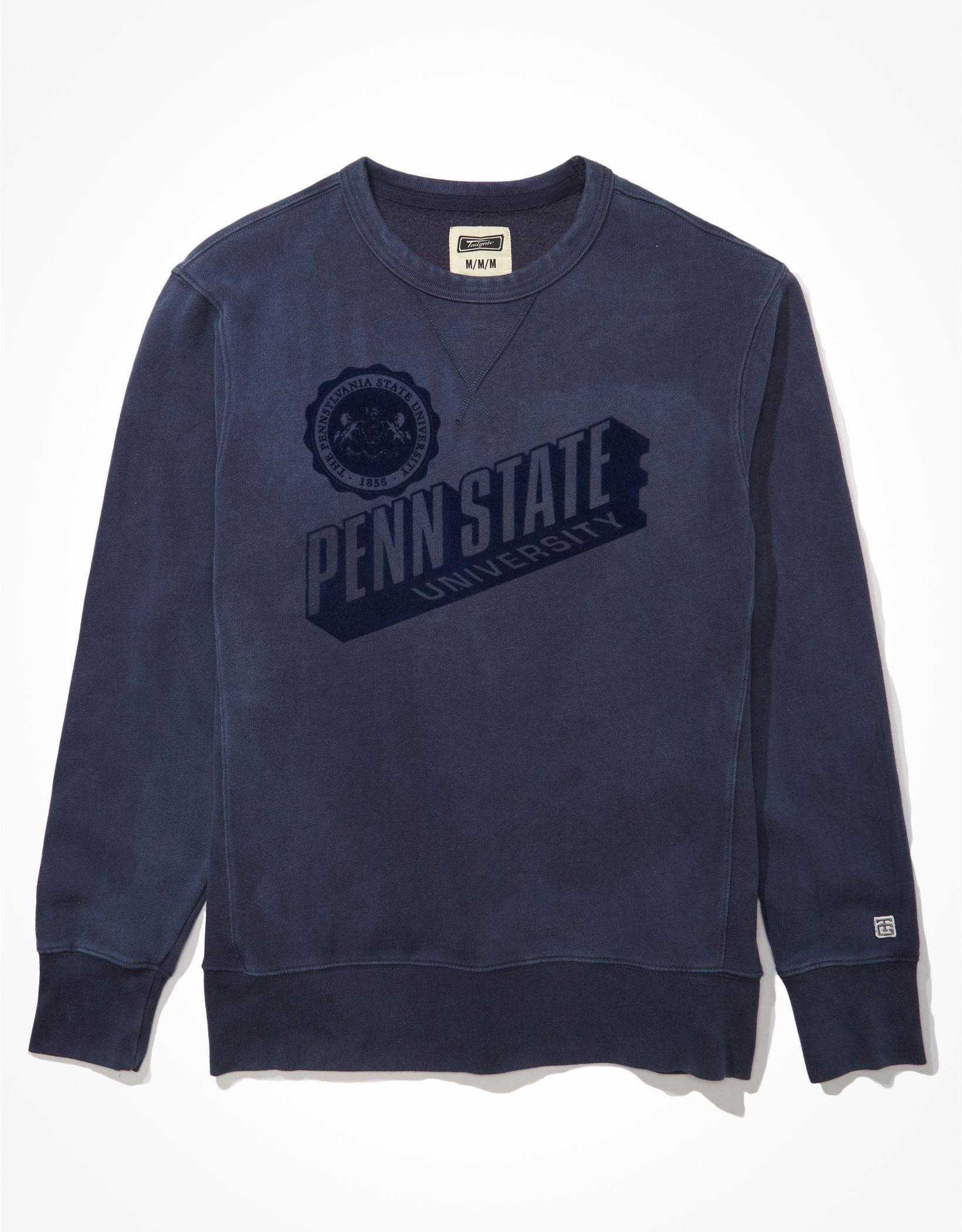 Tailgate Men's Penn State Tonal Fleece Crew Neck Sweatshirt