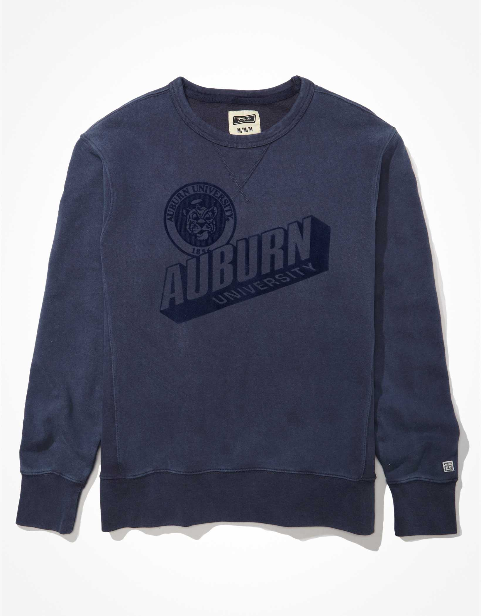 Tailgate Men's Auburn Tigers Tonal Fleece Crew Neck Sweatshirt