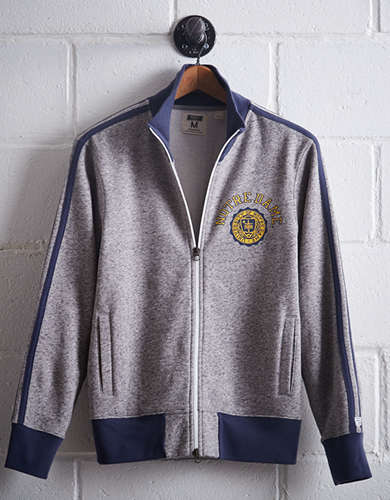 Tailgate Men's Notre Dame Track Jacket - Free Returns