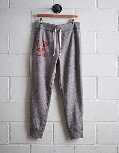 Tailgate Men's Wisconsin Slim Fleece Sweatpant - Free Returns
