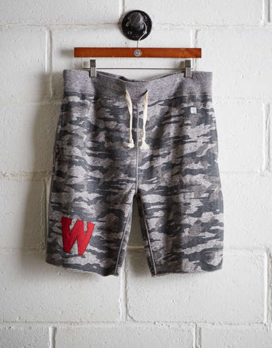 Tailgate Men's Wisconsin Camo Fleece Short - Free Returns