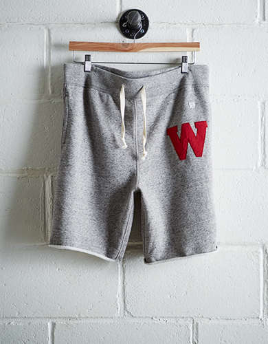 Tailgate Men's Wisconsin Cut-Off Fleece Short - Free Returns
