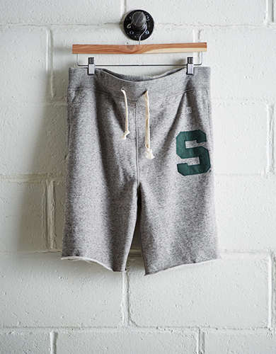 Tailgate Men's Michigan State Cut-Off Fleece Short - Free Returns