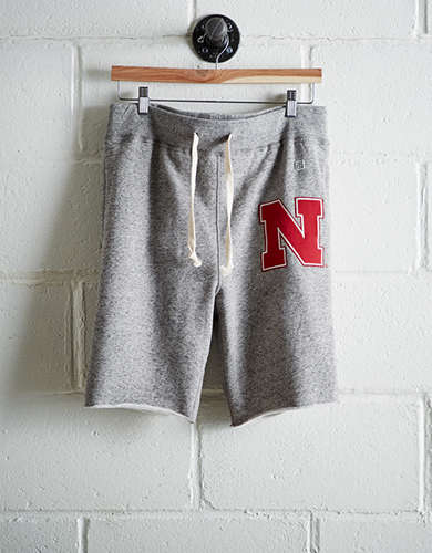 Tailgate Men's Nebraska Cut-Off Fleece Short - Free Returns