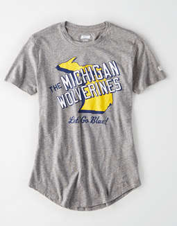 Tailgate Women's Michigan Slub Jersey T-Shirt