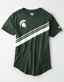 Tailgate Women's Michigan State Slub Jersey T-Shirt