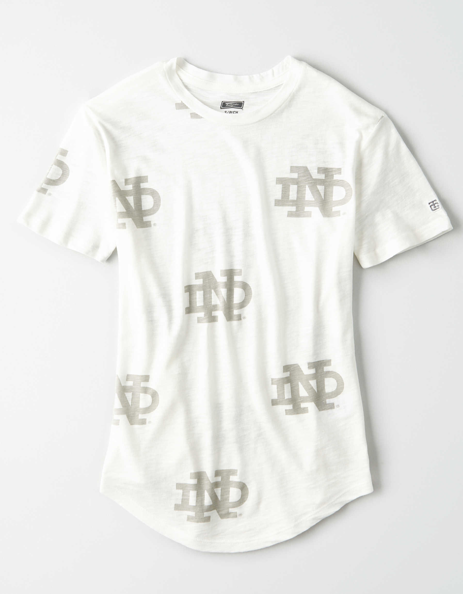 Tailgate Women's Notre Dame All-Over Graphic T-Shirt