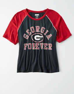 Tailgate Women's Georgia Cropped Raglan T-Shirt