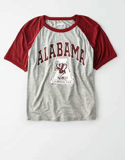 Tailgate Women's Alabama Cropped Raglan T-Shirt