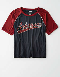 Tailgate Women's Arkansas Cropped Raglan T-Shirt