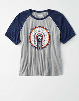 Tailgate Women's Illinois Cropped Raglan T-Shirt