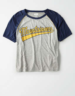 Tailgate Women's West Virginia Cropped Raglan T-Shirt