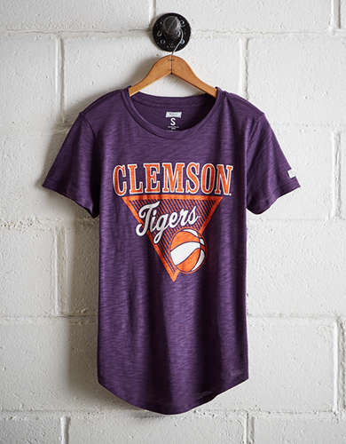 Tailgate Women's Clemson Tigers Basketball T-Shirt - Free Returns