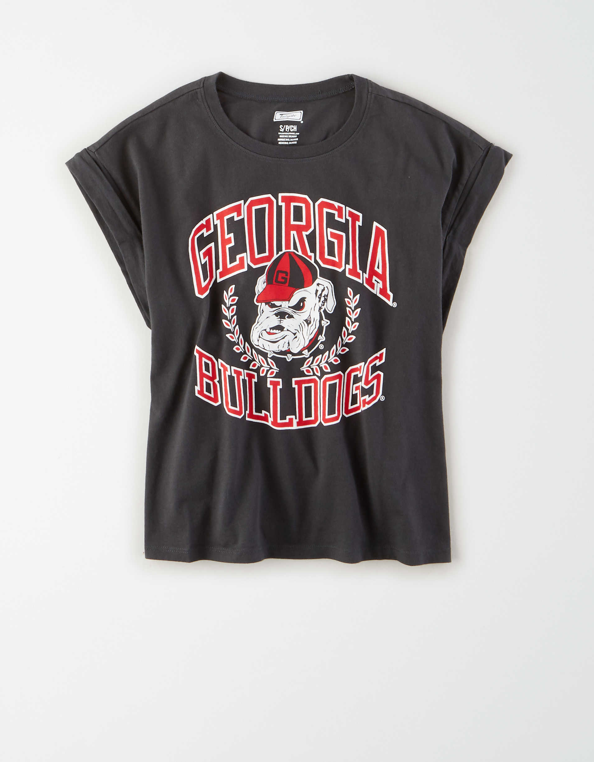 Tailgate Women's Georgia Bulldogs Rolled Sleeve T-Shirt