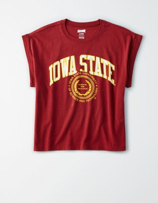 Tailgate Women's Iowa State Rolled Sleeve T Shirt by American Eagle Outfitters